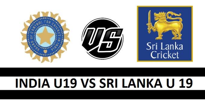 INDIA U19 VS SRI LANKA U19 Fantasy Cricket Preview(Dream11)